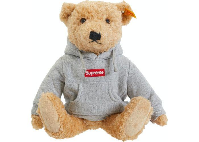 """SUPREME x STEIFF - Urso """"Cinza"""" -NOVO-"""