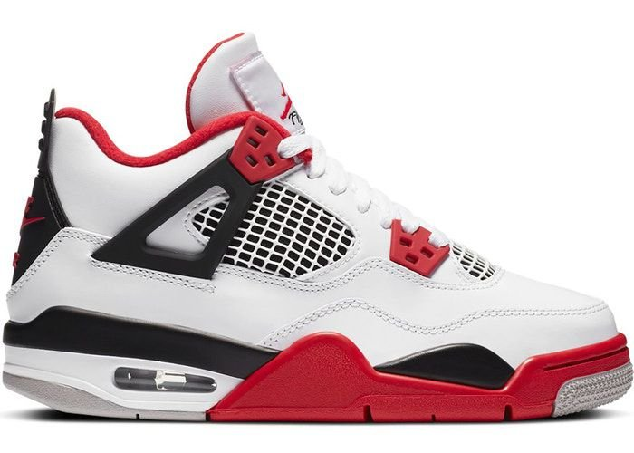 "!NIKE - Air Jordan 4 Retro GS ""Fire Red"" (37,5 BR / 6,5Y US) -NOVO-"