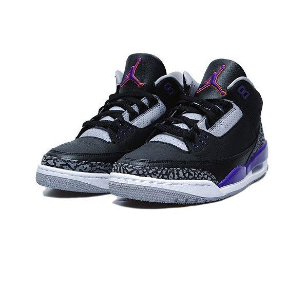 "NIKE - Air Jordan 3 Retro ""Court Purple"" (37,5 BR / 6,5 US)  -NOVO-"