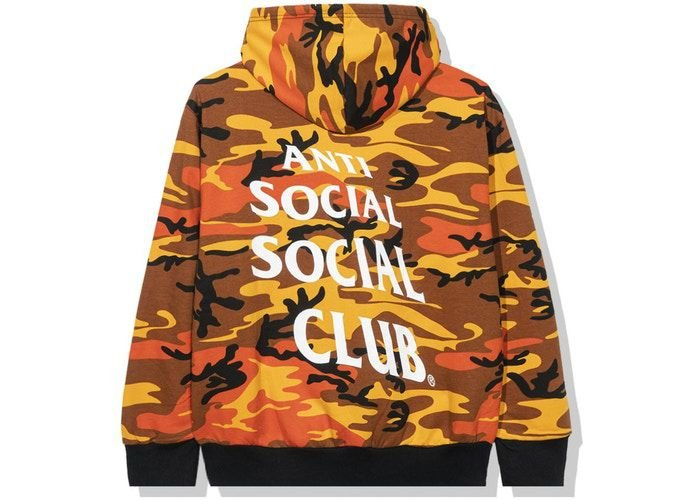 "ANTI SOCIAL SOCIAL CLUB - Moletom True Colors Camo ""Laranja"" -NOVO-"