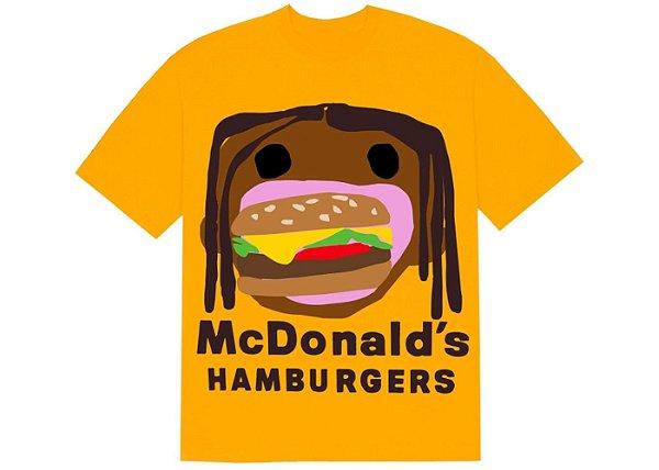 "TRAVIS SCOTT x CPFM - Camiseta 4 CJ Burger Mouth ""Amarelo"" -NOVO-"