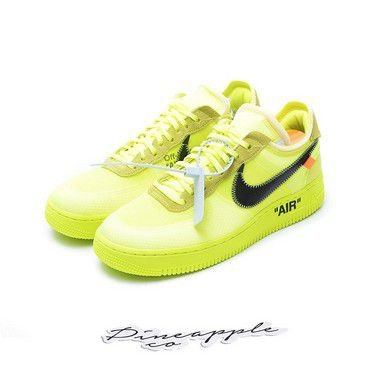 "NIKE x OFF-WHITE - Air Force 1 Low ""Volt"" -NOVO-"