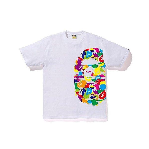 """BAPE - Camiseta Milo ABC Multi Side Big Ape Head """"Branco"""" -NOVO-"""