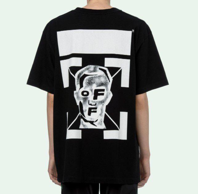 "OFF-WHITE - Camiseta Masked Face Over ""Preto"" -NOVO-"