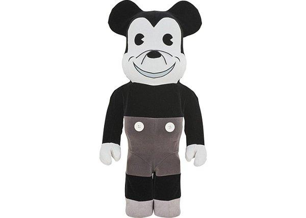 "MEDICOM TOY x DISNEY - Boneco Bearbrick Mickey Mouse Vintage Version 1000% ""Preto/Branco"" -NOVO-"