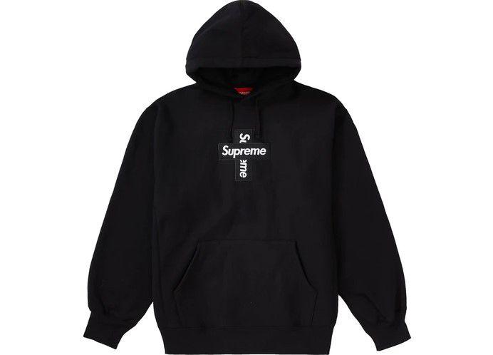 "SUPREME - Moletom Box Logo Cross ""Preto"" -NOVO-"