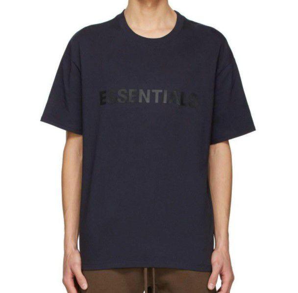 """FOG x SSENSE - Camiseta Essentials 3D Silicon Applique """"Marinho"""" -NOVO-"""