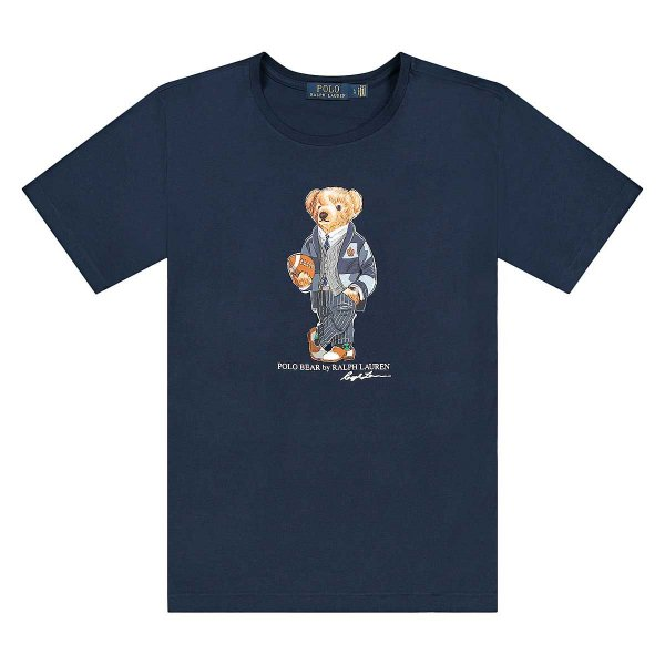 "POLO RALPH LAUREN - Camiseta Bear Football ""Marinho"" -NOVO-"