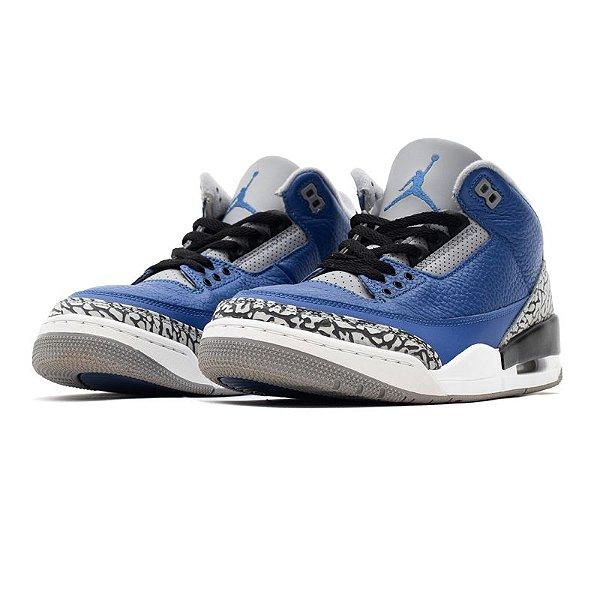 "!NIKE - Air Jordan 3 Retro ""Varsity Royal Cement"" -USADO-"
