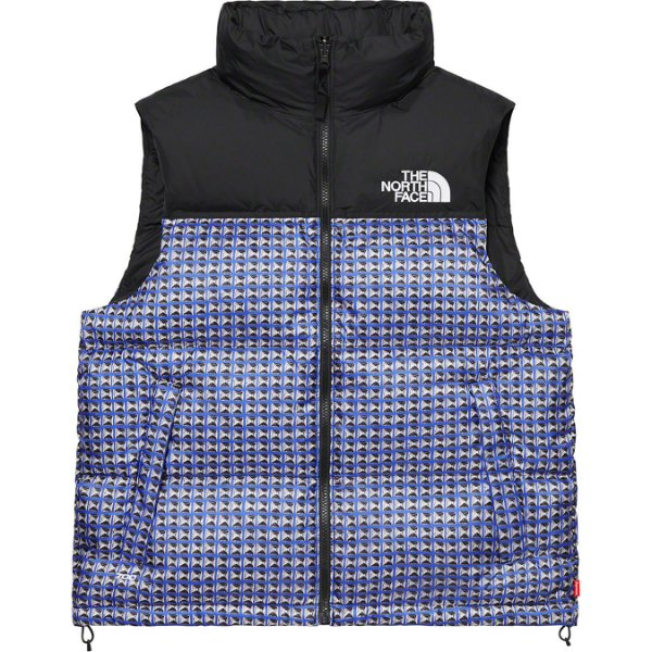 "ENCOMENDA - SUPREME x THE NORTH FACE - Colete Studded Nuptse ""Azul"" -NOVO-"
