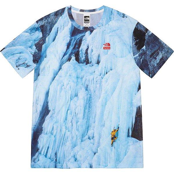 "ENCOMENDA - SUPREME x THE NORTH FACE - Camiseta Ice Climb ""Azul"" -NOVO-"