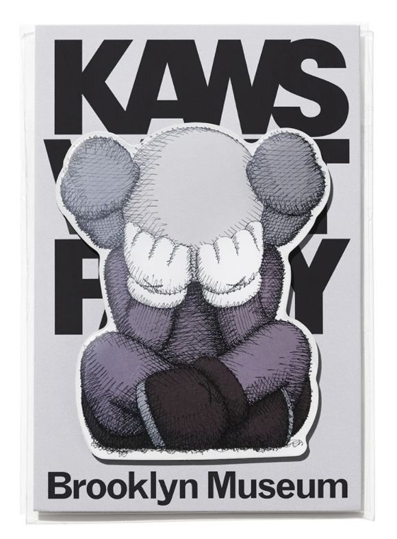 "KAWS x Brooklyn Museum - Ímã SEPARATED ""Cinza"" -NOVO-"