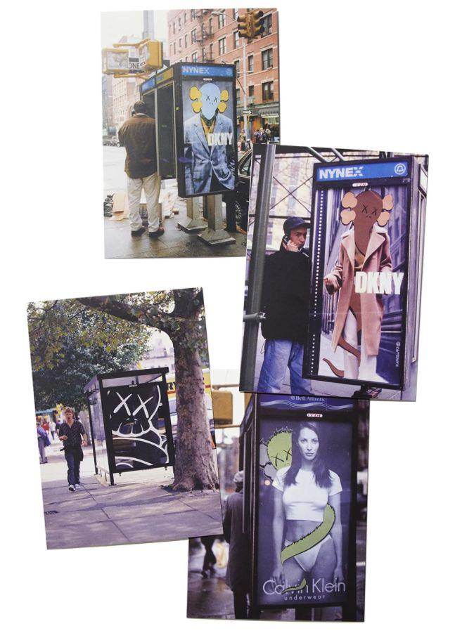 "KAWS x Brooklyn Museum - Cartão Postal ""Ad Interventions"" (Kit c/ 4) -NOVO-"
