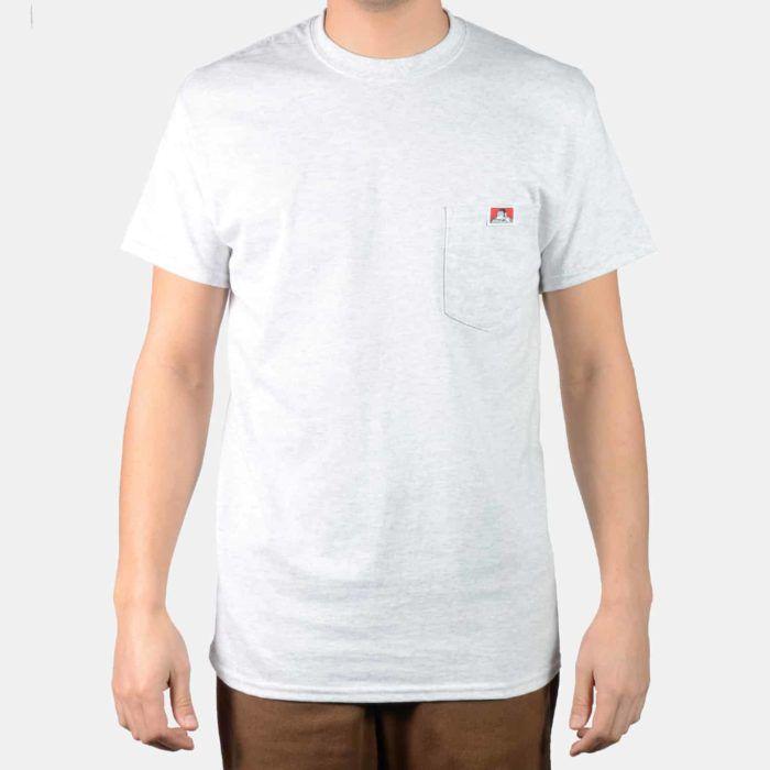 "!BEN DAVIS - Camiseta Pocket ""Cinza"" -NOVO-"