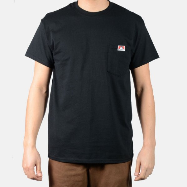 "BEN DAVIS - Camiseta Pocket ""Preto"" -NOVO-"
