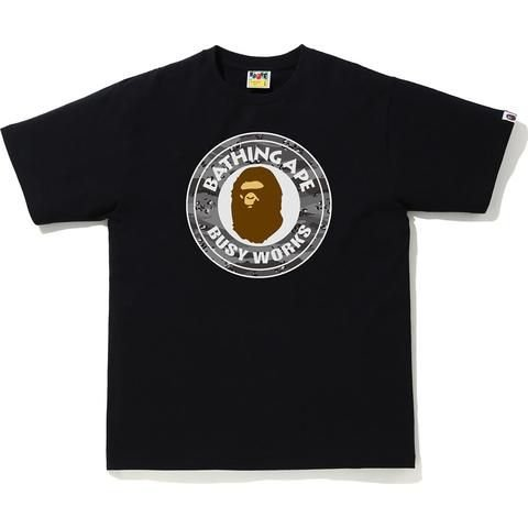 "BAPE - Camiseta Busy Works Desert Camo ""Preto/Cinza"" -NOVO-"