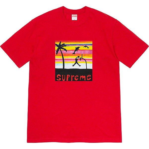 """ENCOMENDA - SUPREME - Camiseta Dunk """"Vermelho"""" -NOVO-"""
