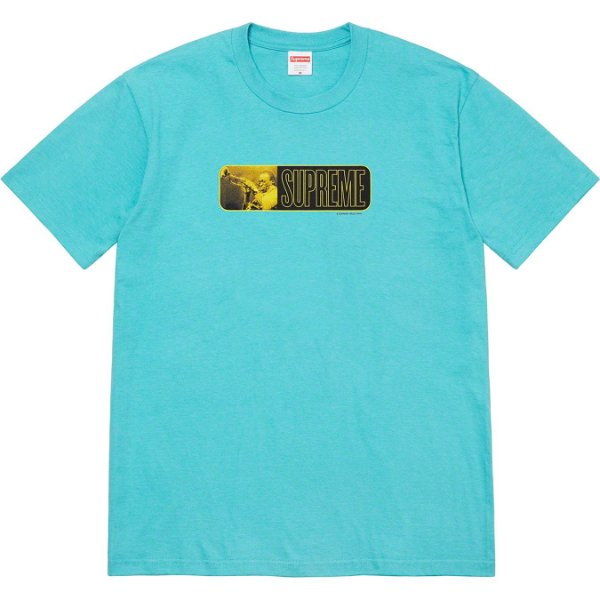 """ENCOMENDA - SUPREME - Camiseta Miles Davis """"Azul Claro"""" -NOVO-"""