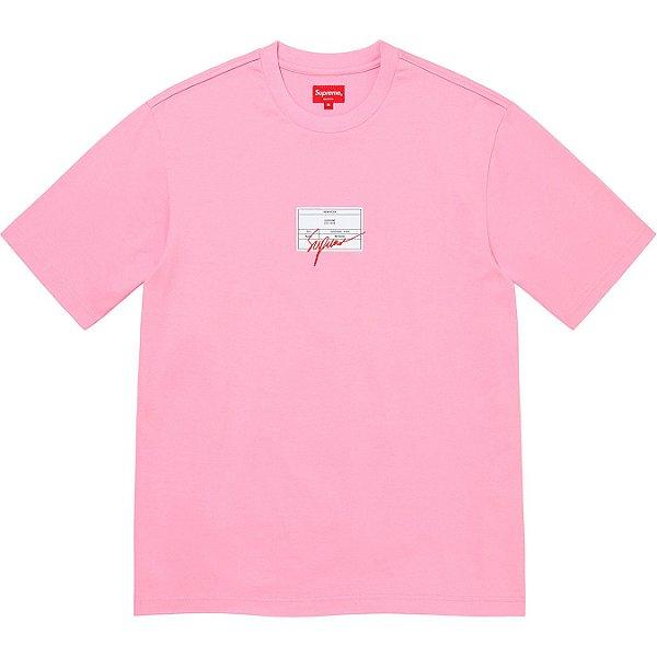 "ENCOMENDA - SUPREME - Camiseta Signature Label ""Rosa"" -NOVO-"