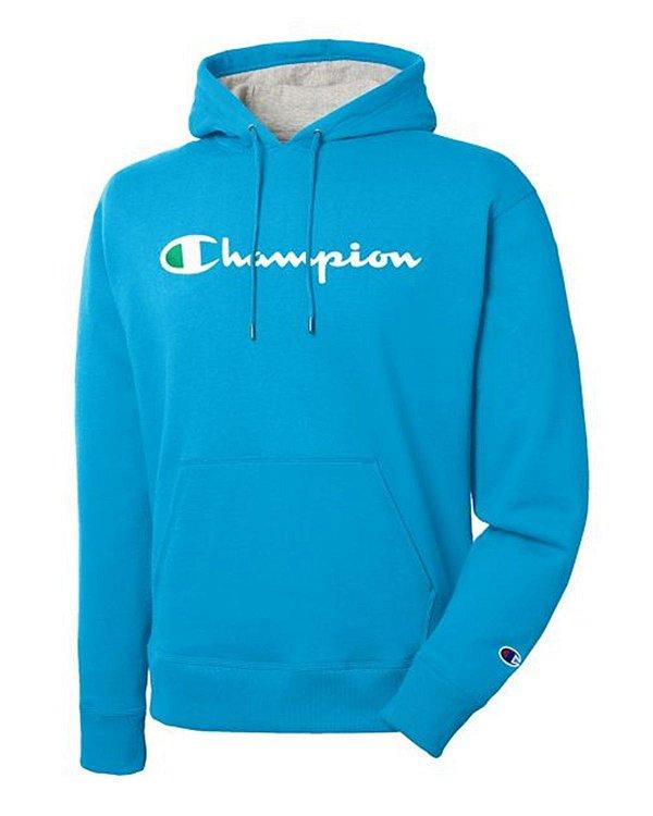 "CHAMPION - Moletom Logo Script ""Azul"" -NOVO-"