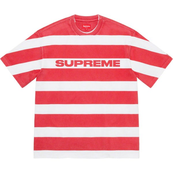 "ENCOMENDA - SUPREME - Camiseta Printed Stripe ""Vermelho"" -NOVO-"