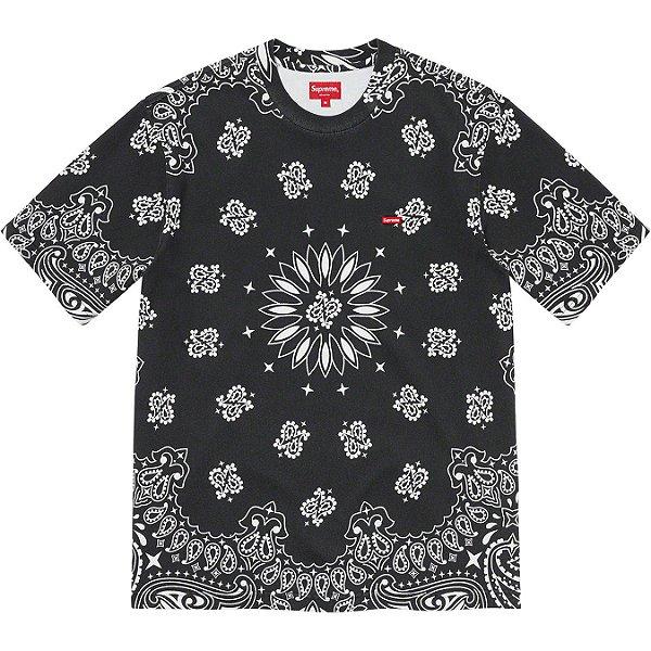 "ENCOMENDA - SUPREME - Camiseta Small Box ""Bandana Preto"" -NOVO-"