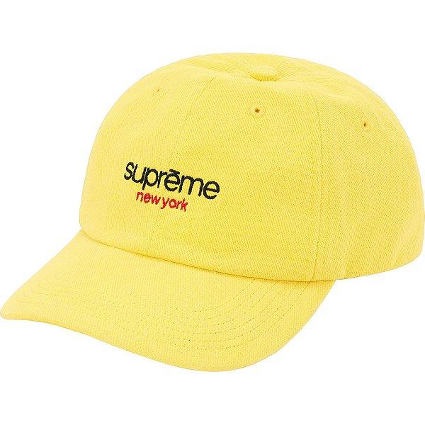 """ENCOMENDA - SUPREME - Boné 6-Panel Classic Logo """"Amarelo"""" -NOVO-"""