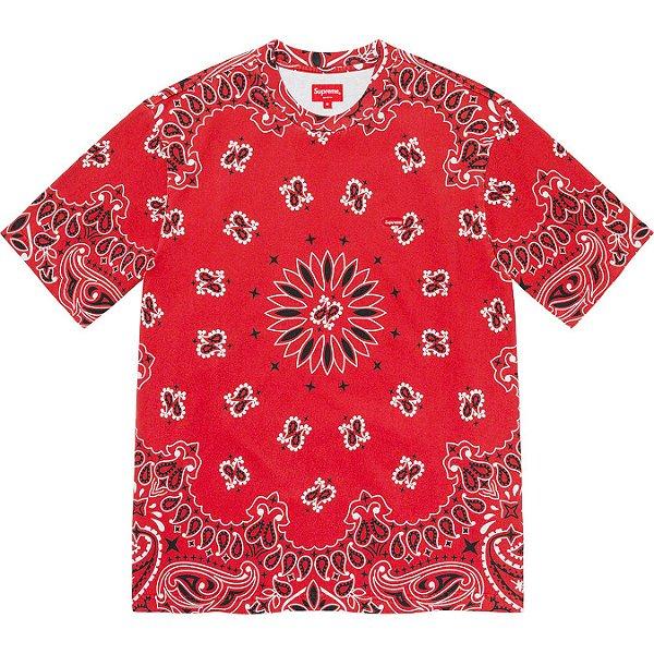 "ENCOMENDA - SUPREME - Camiseta Small Box ""Bandana Vermelho"" -NOVO-"