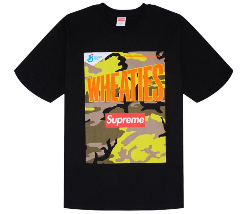 "!SUPREME x WHEATIES - Camiseta ""Preto"" -NOVO-"