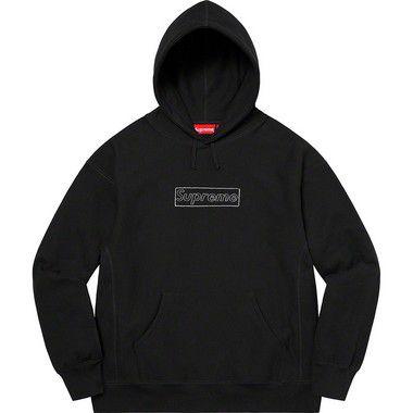 """!SUPREME x KAWS - Moletom Chalk Logo """"Preto"""" -NOVO-"""