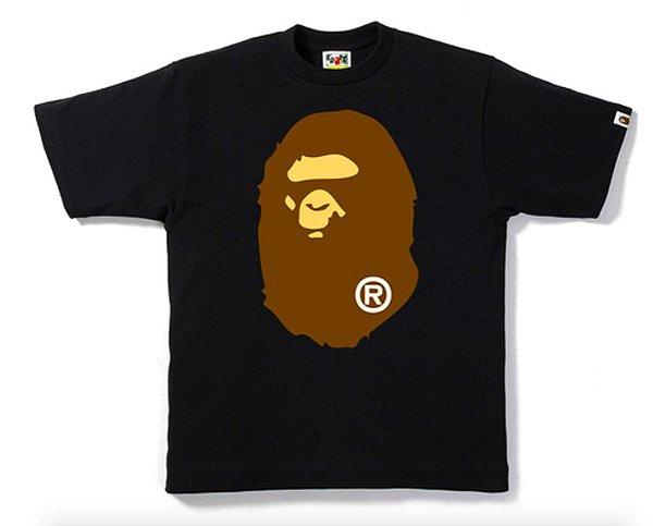 "!BAPE - Camiseta Big Ape Head ""Preto"" -NOVO-"