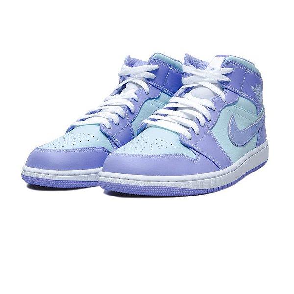 "NIKE - Air Jordan 1 Mid ""Purple Aqua"" -NOVO-"