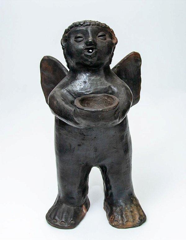 Escultura de terracota Anjo - Artista Paraguaia Carolina Noguera