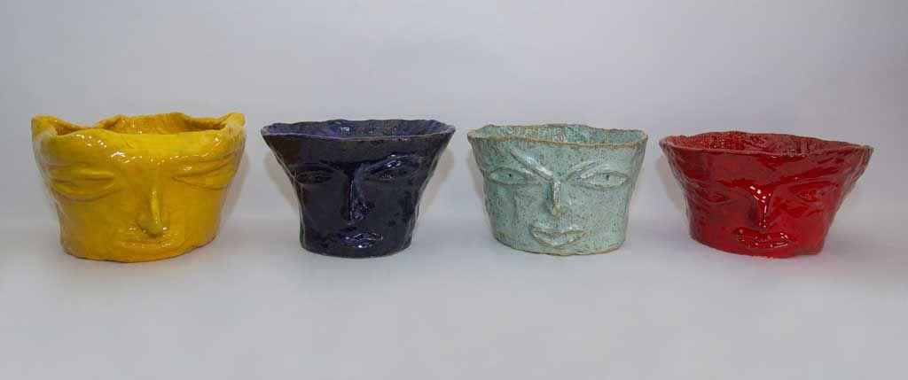Vasos de rostos - Silvana Tinelli