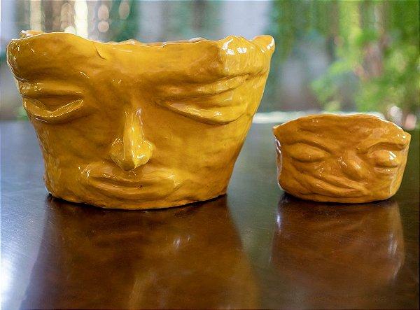 Conjunto de vasos rostos - Silvana Tinelli