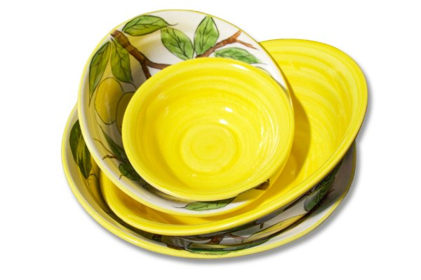 Conjunto de tigelas - Limão Siciliano