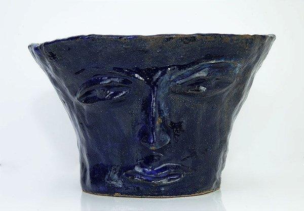 Vaso rosto Azul Escuro - Silvana Tinelli