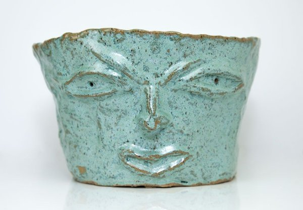 Vaso rosto Verde - Silvana Tinelli