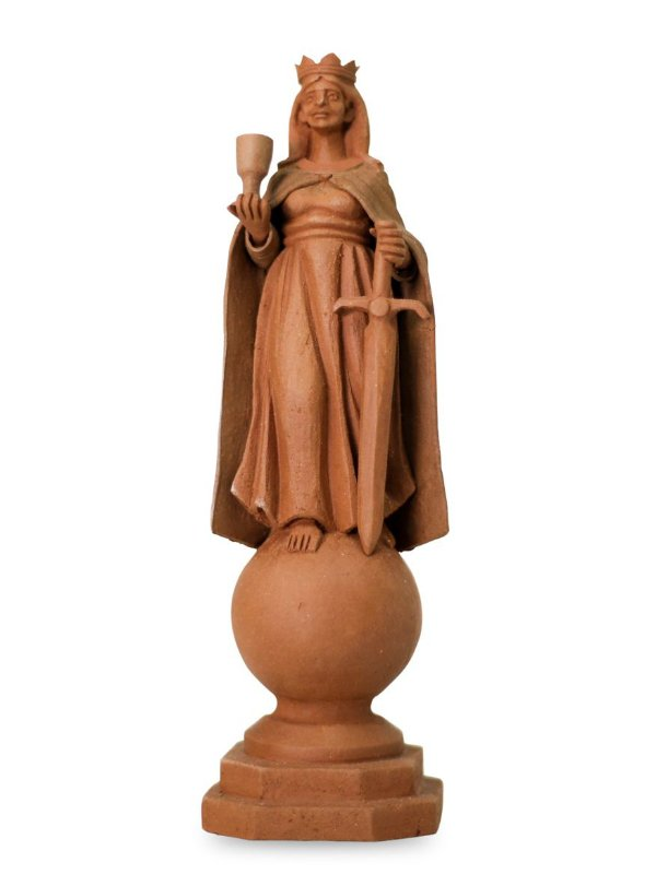 Escultura de terracota Santa Barbara - Leonilson Arcanjo