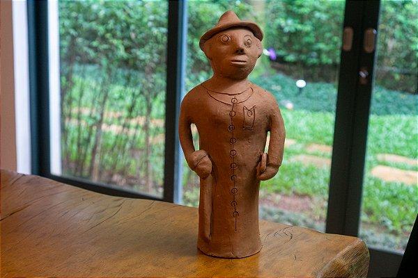 Escultura de terracota Padre - Mestra Irinéia