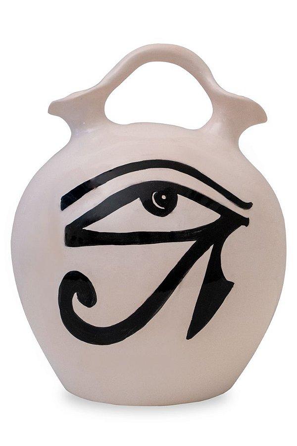 Vaso de cerâmica Olho de Hórus - Silvana Tinelli