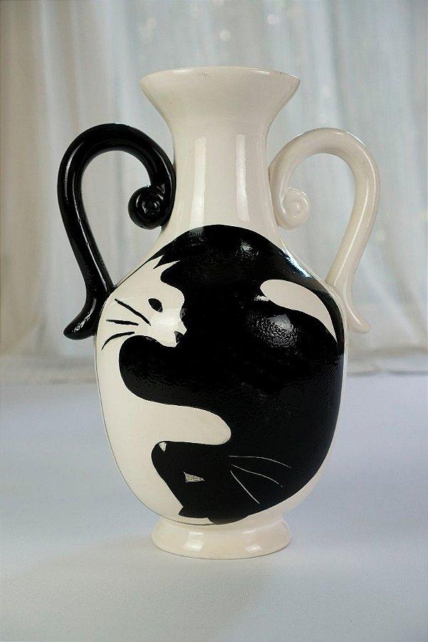 Vaso de cerâmica Gatos - Silvana Tinelli