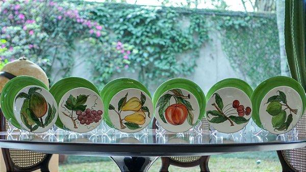 Jogo de Jantar Frutas 6 lugares (12 peças) - Silvana Tinelli