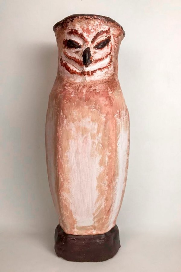 Vaso de terracota Coruja - Silvana Tinelli