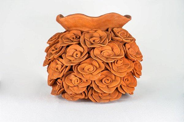 Vaso de terracota Flores II - Tita de Capela