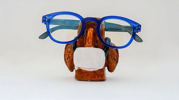Suporte para óculos Marrom com máscara - Walter Cabral