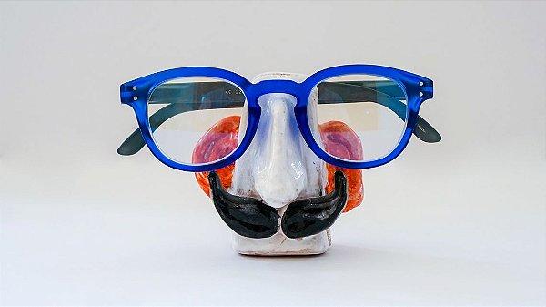 Suporte para óculos de terracota Branco com orelhas e handlebar - Walter Cabral
