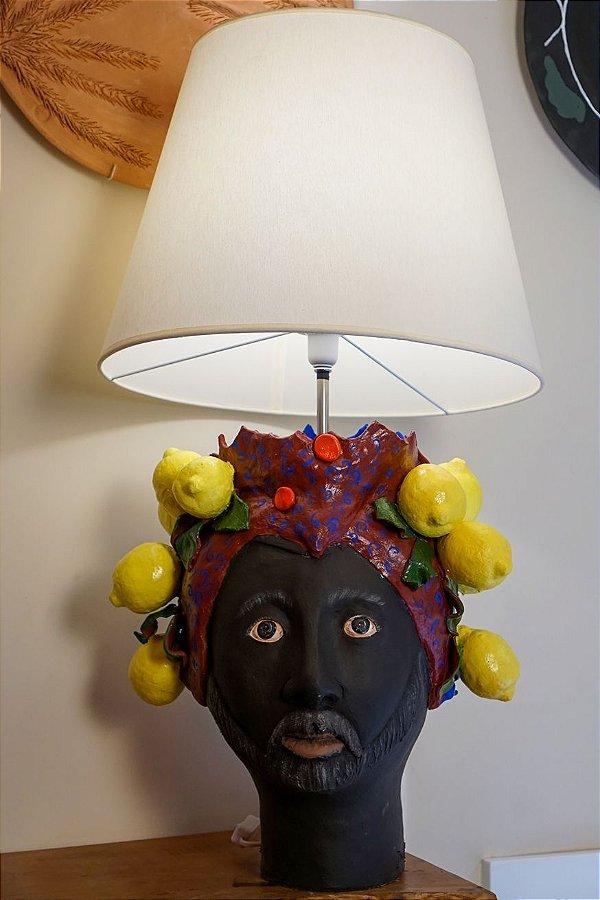 Abajur de terracota Duas Faces (Masculino e feminino) - Silvana Tinelli