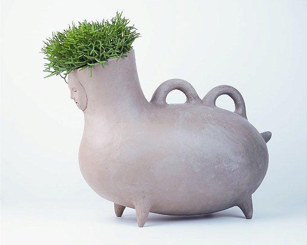 Vaso de terracota criatura - Daniel Pereira