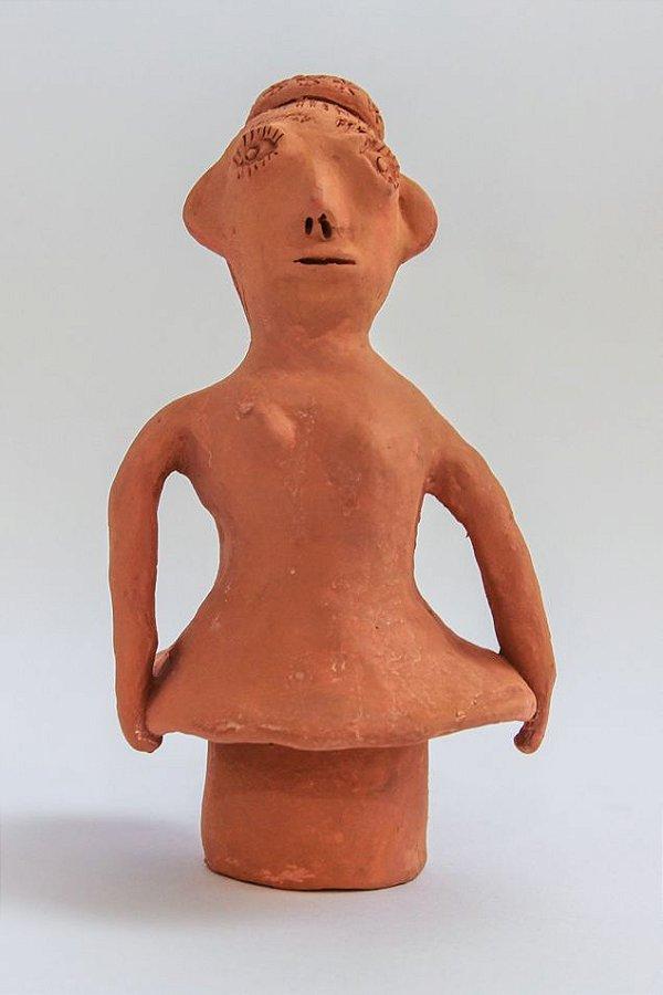 Escultura de terracota Moça - Mônica de Irinéia